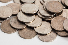 Brudne tajlandzkie monety Zdjęcie Stock