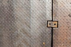 Brudnego metalu chwyta diamentowy wzór Obrazy Royalty Free