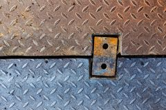 Brudnego metalu chwyta diamentowy wzór Fotografia Stock