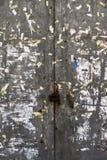 Brudnego metalu drzwiowy szczegół Obraz Stock