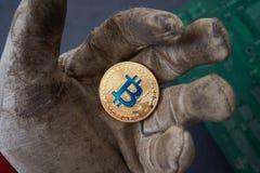 Brudni czyny robić brudu bitcoin Fotografia Stock