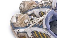 Brudni działający buty Obrazy Stock