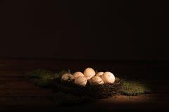 Brudni kurczaków jajka Obrazy Royalty Free