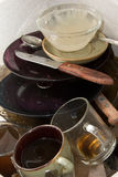 brudni naczynia Fotografia Stock
