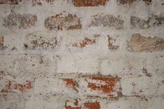 Brudny ściana z cegieł Fotografia Stock