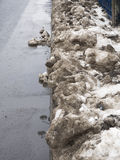 Brudny śnieg Fotografia Royalty Free