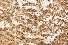 Brudny śnieg i lód topimy t?o tekstury stara ceglana ?ciana obrazy royalty free