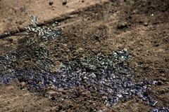 Brudny bitum na powierzchni asfaltowy w budowie zdjęcia royalty free