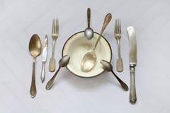 Brudny i stary cutlery Fotografia Stock