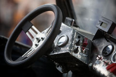 Brudny kierownica szczegół Zdjęcie Royalty Free