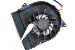 Brudny laptopu fan Fotografia Stock