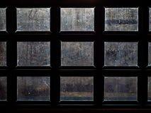 Brudny nadokienny szkło zdjęcie royalty free