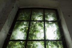 brudny okno fotografia stock