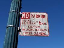 Brudny parking Podpisuje wewnątrz San Francisco zdjęcie royalty free