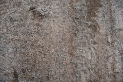 Brudny piasek na drodze na widok zdjęcia stock