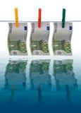 brudny pieniądze Zdjęcia Royalty Free