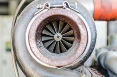 Brudny stalowy trubo dla generatorowego silnika Zdjęcia Royalty Free
