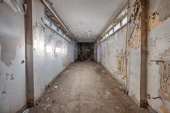 Brudny, stary i przyschnięty korytarz, Obraz Stock