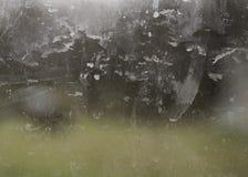 Brudny szklany okno Obrazy Stock