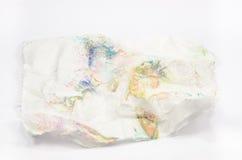 brudny tkankowego papieru odosobniony tło obrazy stock