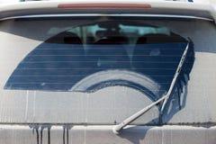 Brudny tylni okno Zdjęcie Stock