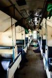 Brudny wnętrze pociąg Obraz Stock