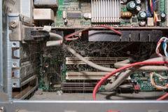 Brudny zakurzony komputer Obrazy Stock