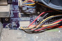 Brudny zakurzony komputer Fotografia Stock