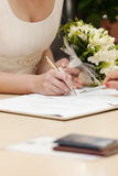 brudtecken Royaltyfri Fotografi
