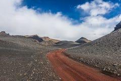 brudu Iceland droga Zdjęcie Royalty Free