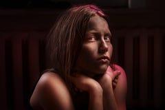Brudzę przestraszył nastoletniej dziewczyny Obrazy Stock