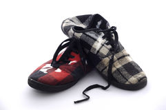 brudzi biały odosobnionych buty Obraz Stock