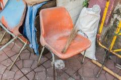 Brudzi krzesła Fotografia Royalty Free