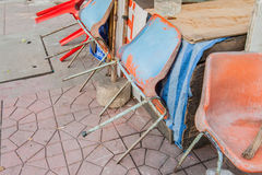 Brudzi krzesła Zdjęcie Stock