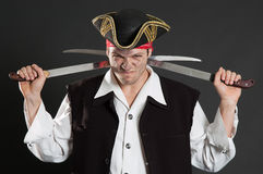 brudzi pirat szable dwa Obrazy Royalty Free