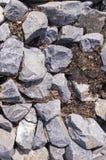 Brudzi skały tło, tekstura natura, winieta Zdjęcie Stock