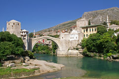 Bruecke in Mostar Stockfoto