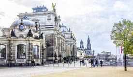 Bruehls Terrace, Dresden Royalty Free Stock Images