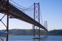 Brug 25 April Lissabon Royalty-vrije Stock Afbeeldingen