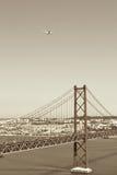 Brug 25 DE Abril, Lissabon Royalty-vrije Stock Afbeeldingen