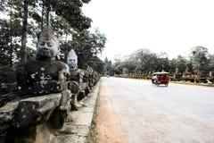 Brug aan Tempel Bayon Stock Afbeelding