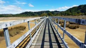 Brug in Abel Tasman National Park stock fotografie