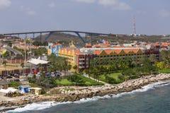 Brug achter Curacao Toevlucht stock fotografie