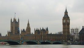 Brug & het parlement van Londen Royalty-vrije Stock Fotografie