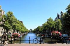 Brug in Amsterdam stock afbeeldingen