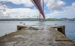 Brug 25 april, Lissabon Royalty-vrije Stock Afbeelding