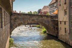 Brug in Bamberg, Duitsland Stock Afbeelding