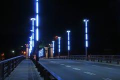 Brug bij nacht Stock Foto's