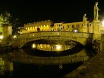Brug bij nacht Royalty-vrije Stock Afbeelding