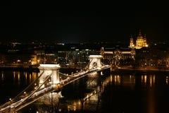Brug in Boedapest Stock Fotografie